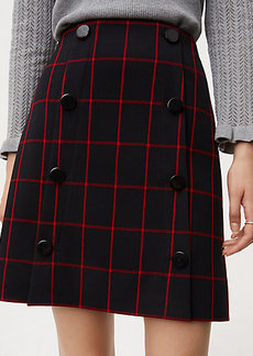 Plaid Modern Buttoned Skirt