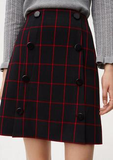 Plaid Modern Buttoned Skirt