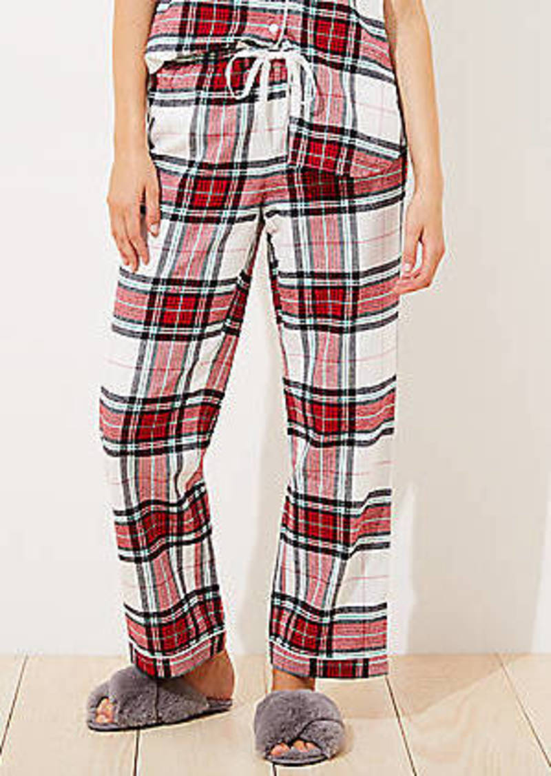 LOFT Plaid Pajama Pants