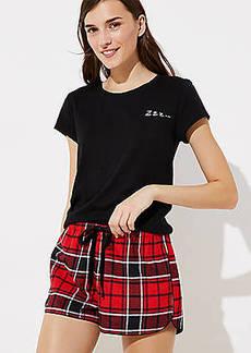 LOFT Plaid Pajama Shorts