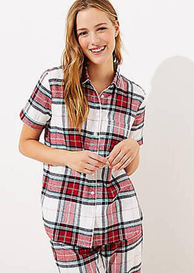 LOFT Plaid Pajama Top