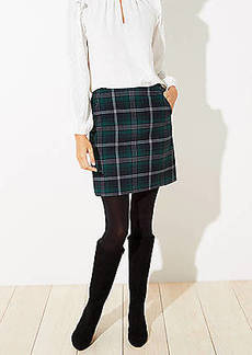 LOFT Plaid Pocket Shift Skirt