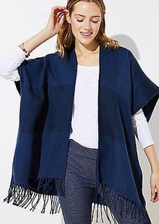 LOFT Plaid Poncho Jacket