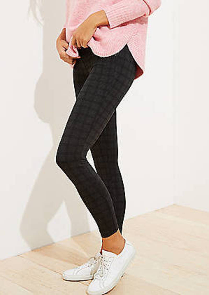 LOFT Plaid Ponte Leggings