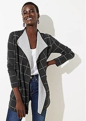LOFT Plaid Reversible Sweater Jacket