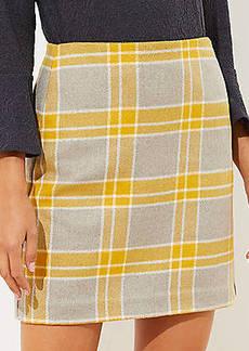 LOFT Plaid Shift Skirt