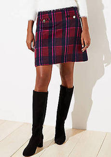 LOFT Plaid Shift Skirt