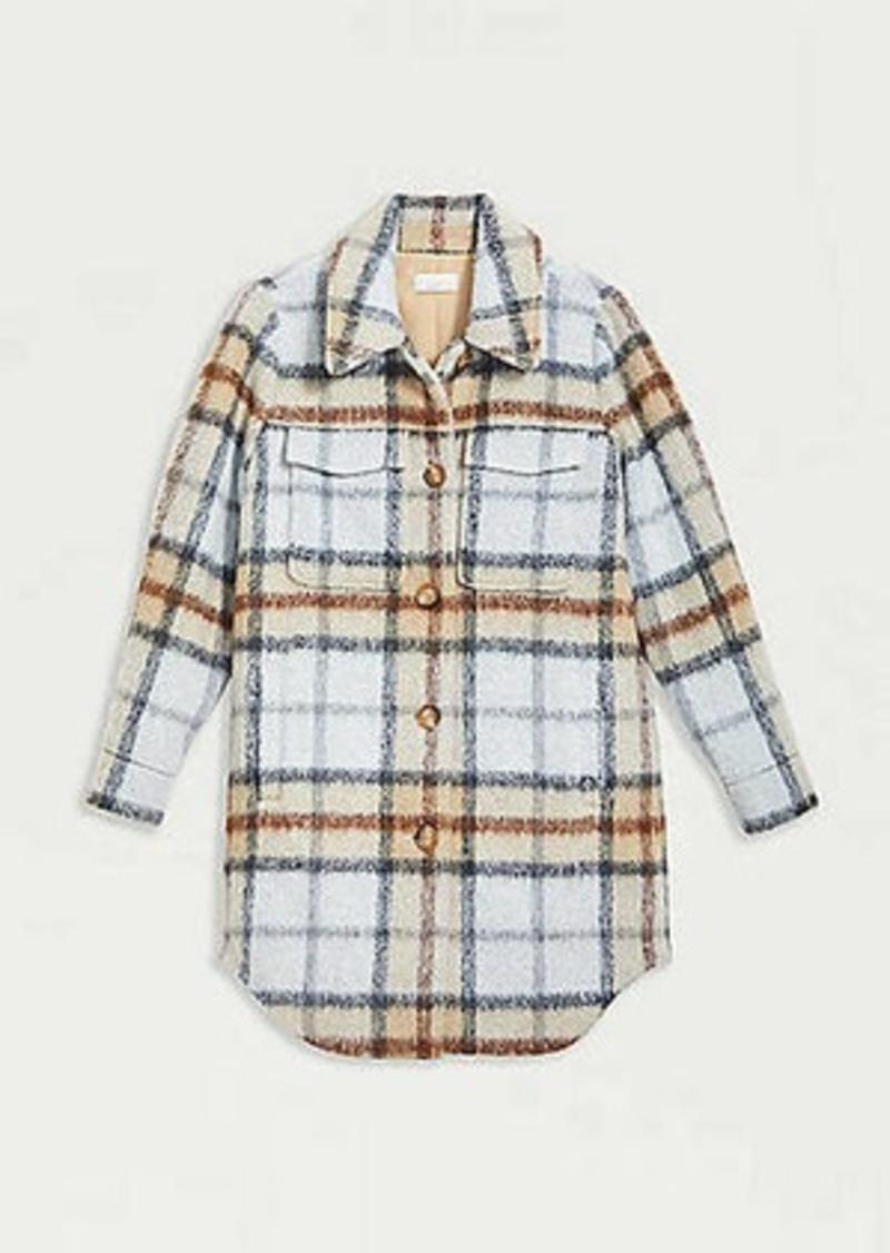 Plaid Shirt Coat