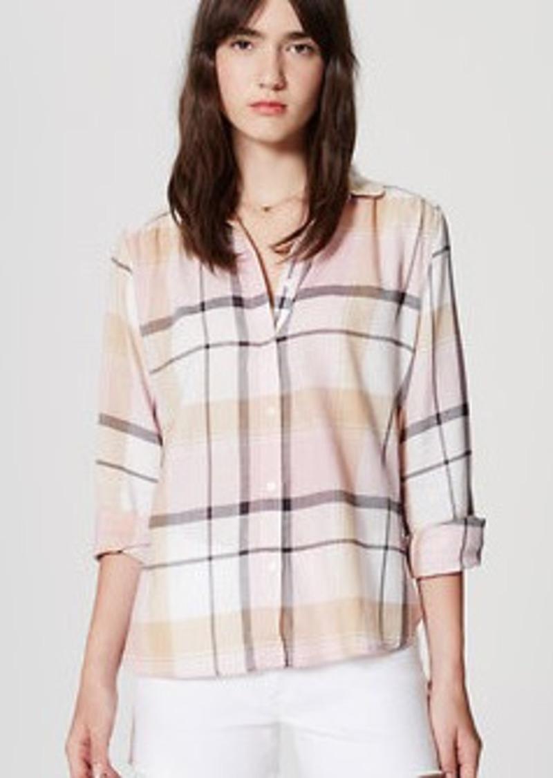 LOFT Plaid Softened Shirt