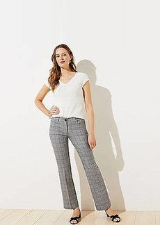 LOFT Plaid Trouser Pants in Curvy Fit