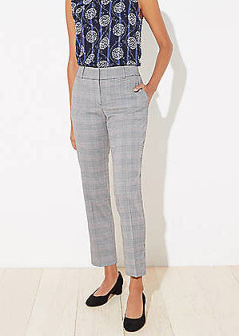 LOFT Plaid High Waist Wide Leg Pants