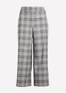 LOFT Plaid Wide Leg Crop Pants