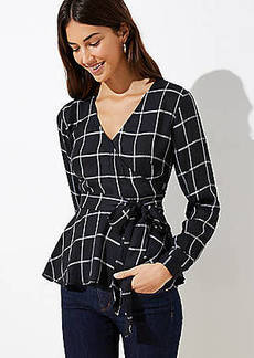 LOFT Plaid Wrap Blouse
