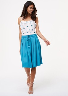 Pleated Drawstring Skirt
