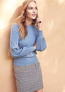 LOFT Pleated Puff Sleeve Sweater