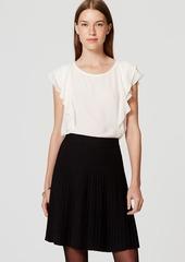 LOFT Pleated Pull On Skirt
