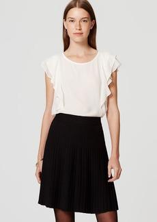 Pleated Pull On Skirt