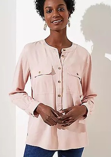 LOFT Pocket Henley Utility Blouse