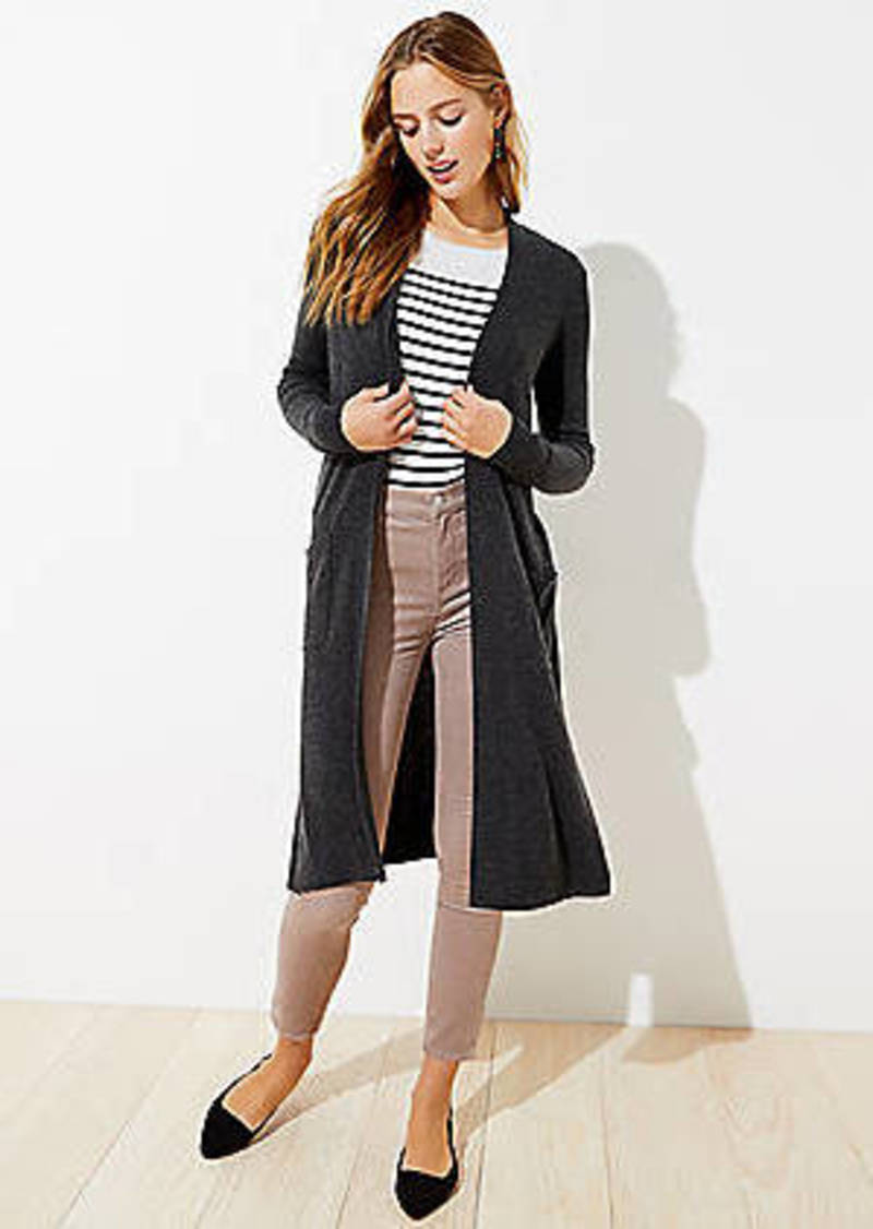 LOFT Pocket Open Duster Sweater