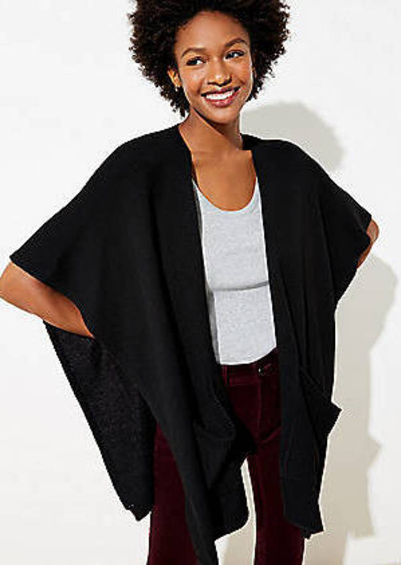 LOFT Pocket Poncho Wrap