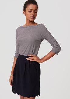 Pocket Scalloped Skirt