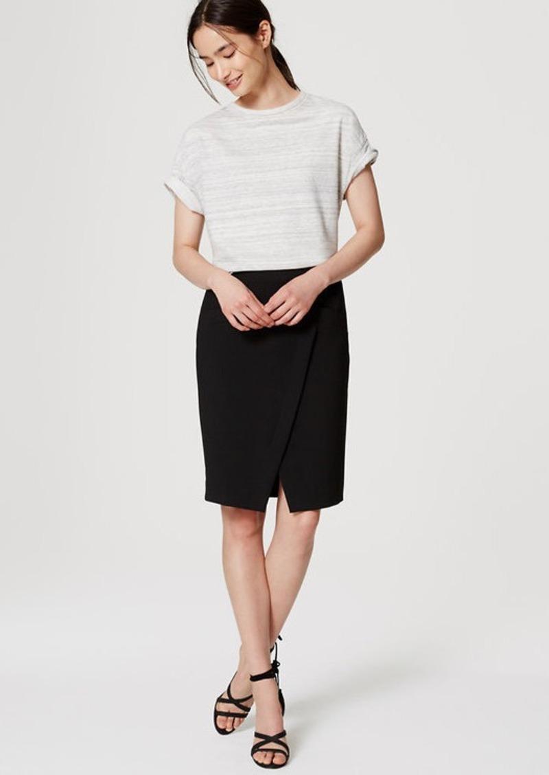 LOFT Pocket Wrap Pencil Skirt