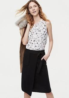 Pocket Wrap Sweater Skirt