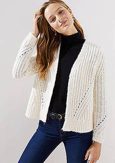 LOFT Pointelle Open Cardigan
