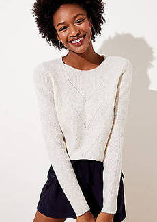 LOFT Pointelle Ribbed Sweater