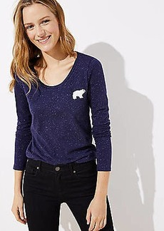 LOFT Polar Bear Long Sleeve Tee