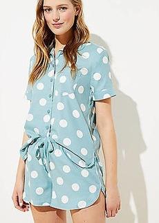 LOFT Polka Dot Pajama Shorts