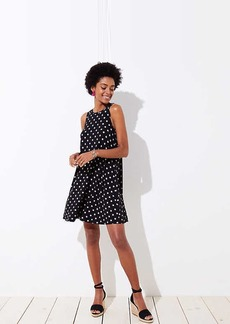 Polka Dot Sleeveless Swing Dress