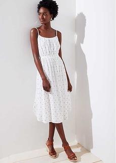 LOFT Polka Dot Strappy Dress