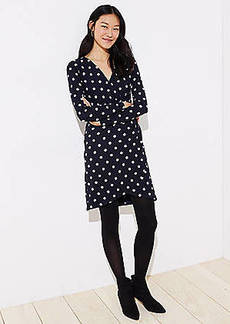 LOFT Polka Dot Wrap Dress
