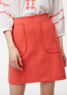 Pom Pom Pocket Shift Skirt