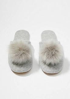 LOFT Pom Pom Slippers