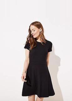 LOFT Ponte Flare Pocket Dress