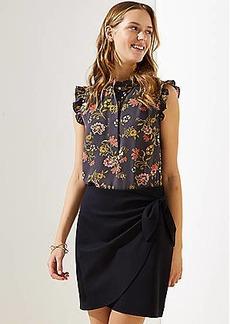 LOFT Ponte Wrap Skirt