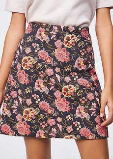 Poppy Bloom Shift Skirt