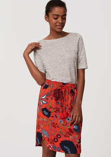 Primavera Drawstring Pencil Skirt