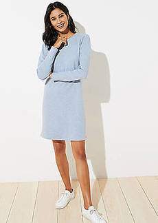 LOFT Puff Sleeve Sweatshirt Dress