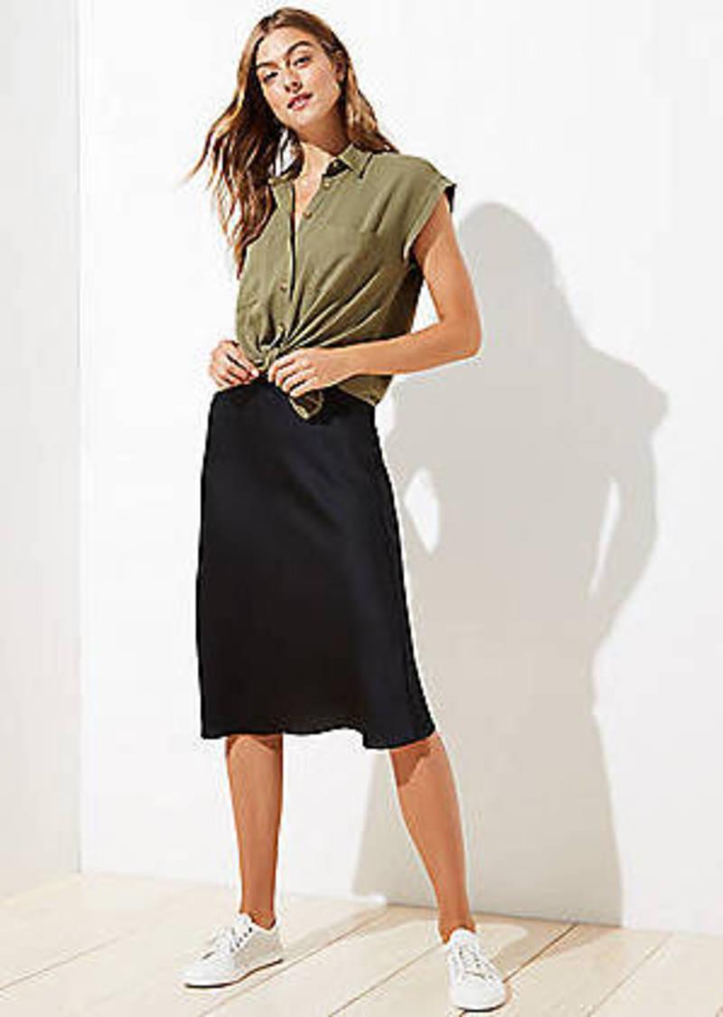 LOFT Pull On Midi Skirt