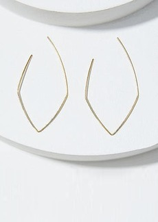 LOFT Pull Through Diamond Hoop Earrings