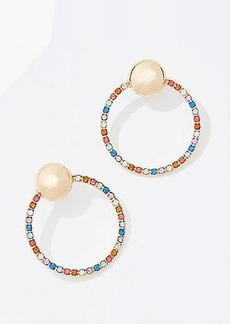LOFT Rainbow Crystal Ring Earrings