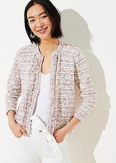 LOFT Rainbow Fringe Sweater Jacket
