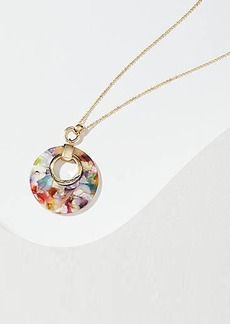 LOFT Rainbow Marbleized Pendant Necklace