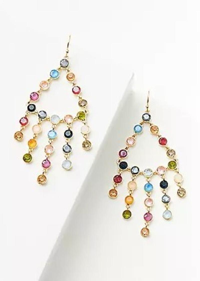 LOFT Rainbow Pave Chandelier Earrings