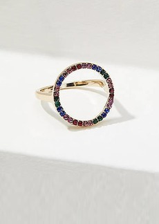 LOFT Rainbow Pave Circle Ring