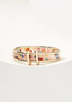 LOFT Rainbow Resin Bangle Set