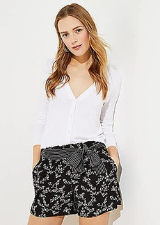 LOFT Rainforest Tie Waist Shorts